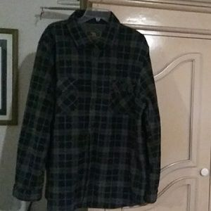 Freedom Foundry 100% Polyester Plaid Shirt SZ-XXL